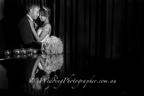 Reflection of love - Captured by Wedding photographer in Perth